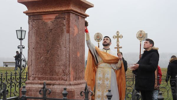 Освећење Богојављенског крста у Вуковару. - Sputnik Србија