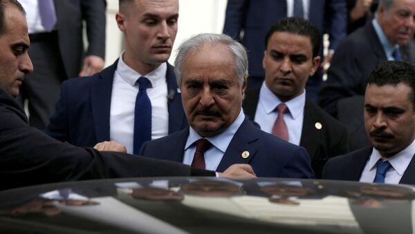 Командант Либијске националне армије генерал Халифа Хафтар - Sputnik Србија