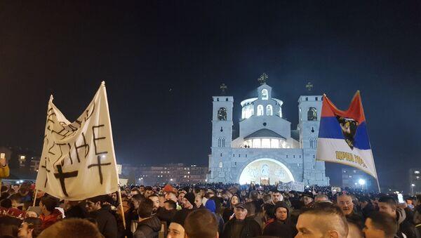 Верници пред почетак литије у Подгорици - Sputnik Србија