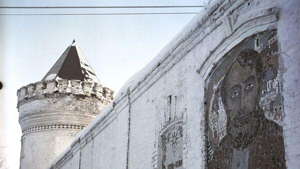 Мозаични портрет Семјона Ремезова на зиду западног зида софијског суда тоболског Кремља. - Sputnik Србија