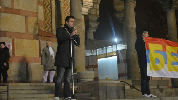 Boris Malagurski se obraća okupljenima - Sputnik Srbija