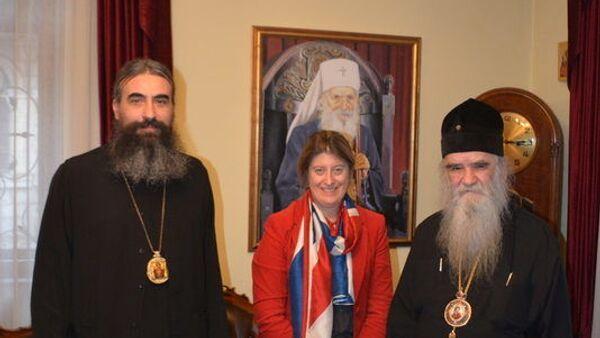 Митрополит Амифлохије разговарао са амбасадорком Велике Британије у Црној Гори, Алисон Кемп - Sputnik Србија