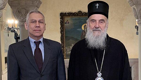Српски патријарх Иринеј примио је Александра Боцан-Харченка - Sputnik Србија