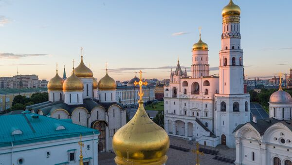 Zvonik Ivana Velikog, Crkva Dvanaest Apostola, Blagoveštenski sabor u moskovskom Kremlju - Sputnik Srbija