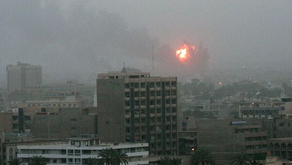 Бомбардировка Багдада американскими военными. Ирак, 20 марта 2003 года - Sputnik Србија