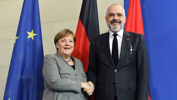 Angela Merkel i Edi Rama - Sputnik Srbija