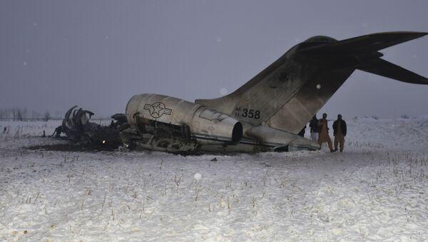Američki vojni avion koji se srušio u avganistanskoj provinciji Gazni - Sputnik Srbija