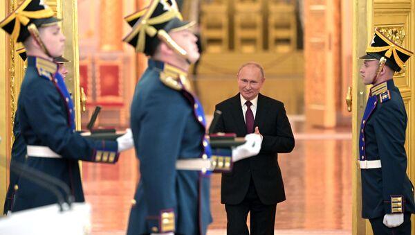 Председник Русије Владимир Путин у московском Кремљу - Sputnik Србија