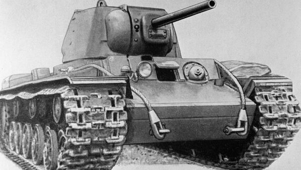 Reproduction of KV-1 heavy tank drawing from USSR Armored Forces Museum collection - Sputnik Srbija