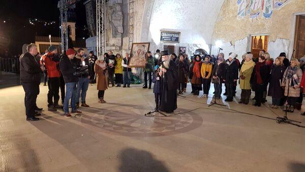 Mitropolit Amfilohije u Podgorici - Sputnik Srbija
