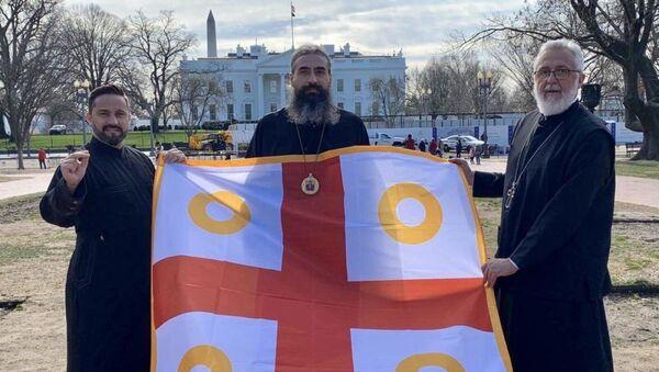 Izaslanici Episkopskog saveta SPC Crne Gore u Vašingtonu - Sputnik Srbija
