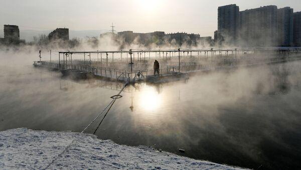 Ribnjak na reci Jenisej, Krasnojarsk - Sputnik Srbija