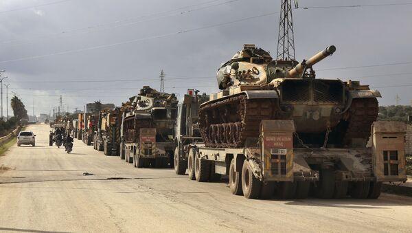 Турски војни конвој у сиријској провинцији Идлиб - Sputnik Србија