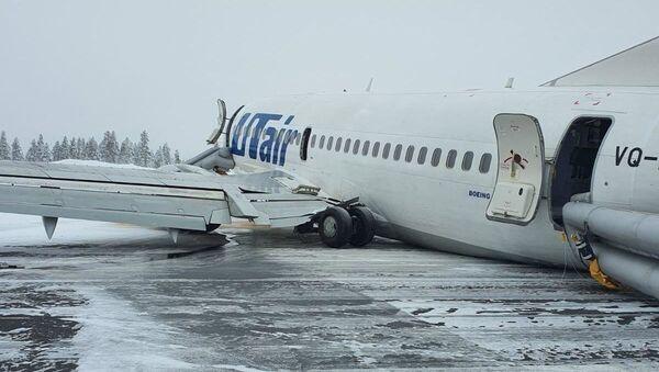 Problematično sletanje aviona na aerodrmou u Usinsku - Sputnik Srbija