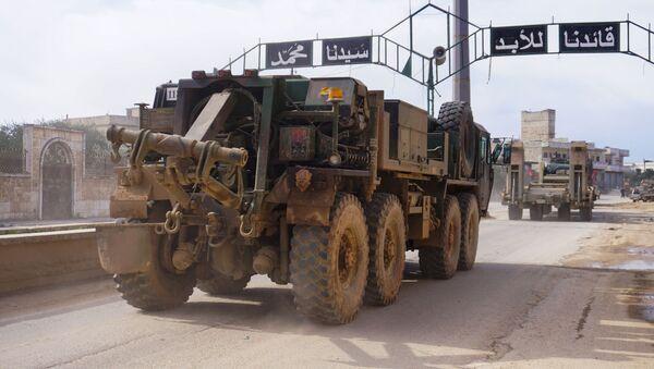 Турски војни конвој пролази кроз сиријску провинцију Идлиб - Sputnik Србија