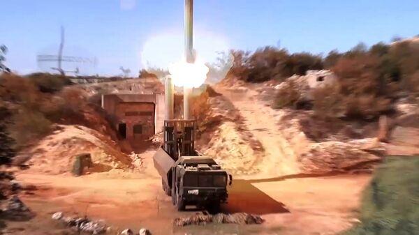 Лансирање крстареће ракете Оникс са лансерног система Бастион у Сирији - Sputnik Србија