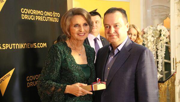 Ministra spoljnih poslova Srbije Ivica Dačić i Ljubinka Milinčić glavni i odgovornik urednik Sputnjika Srbije - Sputnik Srbija