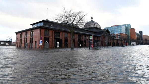 Поплављена Рибља пијаца у Хамбургу - Sputnik Србија