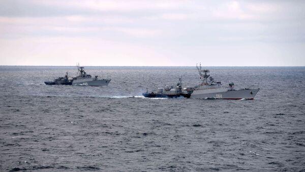 Бродови Црноморске флоте на војним вежбама на Црном мору - Sputnik Србија