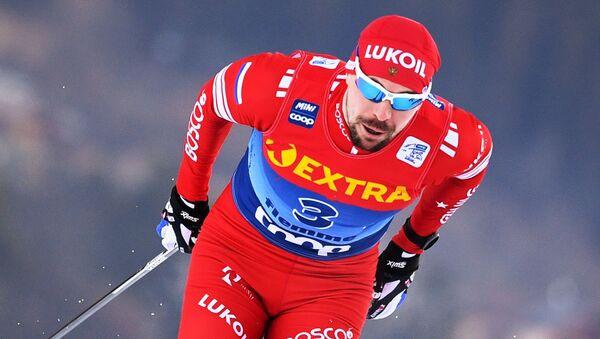 Ruski biatlonac Sergej Ustjugov na takmičenju u Italiji - Sputnik Srbija