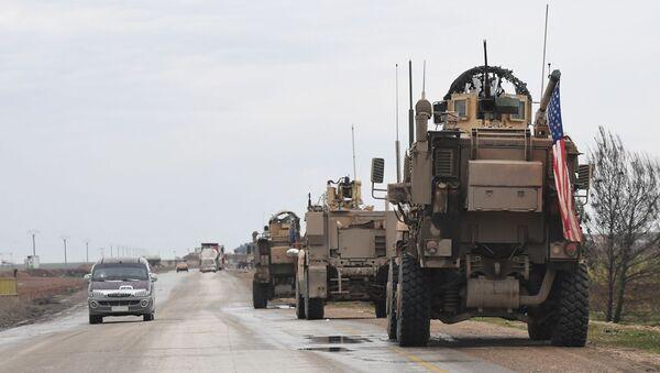 Američka vojna patrola na putu iz Rake u Hasaku - Sputnik Srbija