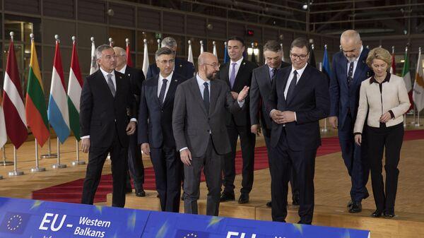 Aleksandar Vučić sa čelnicima EU i liderima Balkana u Briselu - Sputnik Srbija