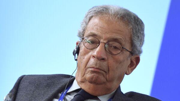 Бивши генерални секретар Арапске лиге Амр Муса на округлом столу Форума Валдај у Москви - Sputnik Србија