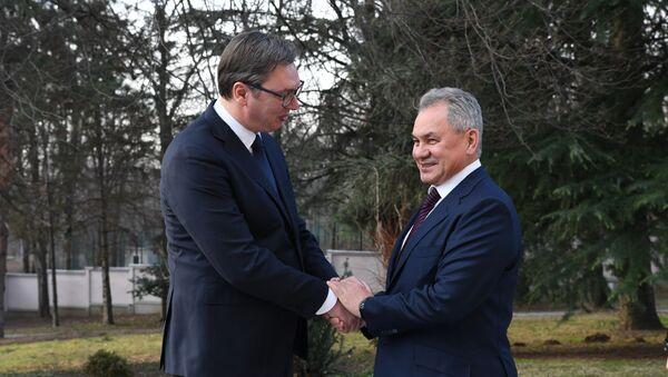 Vučić i Šojgu u Beogradu - Sputnik Srbija