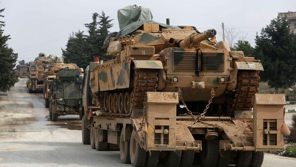 Turski vojni konvoj na putu ka sirijskoj provinciji Idlib - Sputnik Srbija