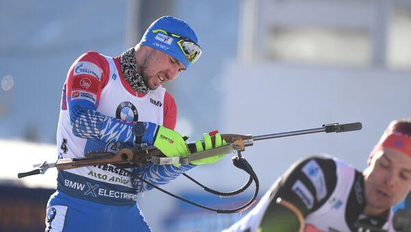Ruski biatlonista Aleksandar Loginov - Sputnik Srbija