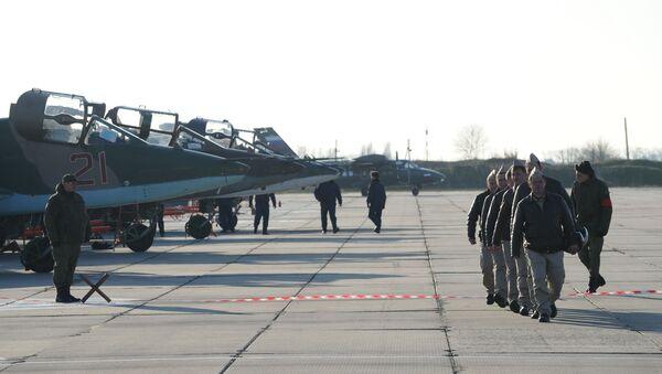 Posade aviona Su-25 Vazdušno-kosmičkih snaga Rusije koje su se borile u Siriji - Sputnik Srbija