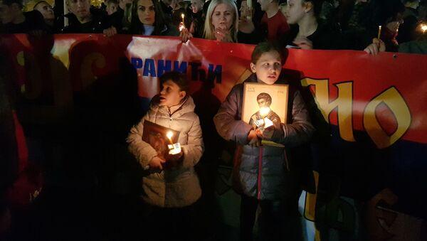 Deca na litiji ispred hrama u Podgorici - Sputnik Srbija