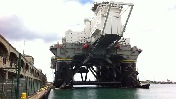 Lansirna platforma Odisej u luci u Honoluluu - Sputnik Srbija