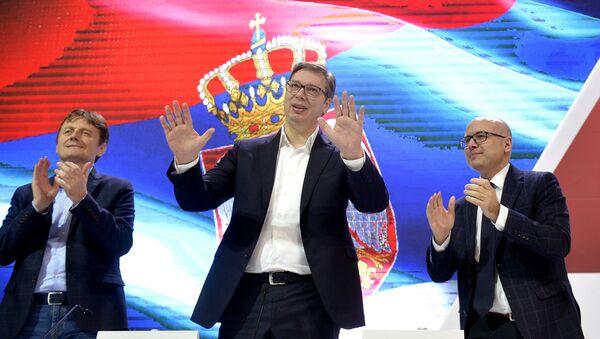 Aleksandar Vučić na sednici GO SNS  - Sputnik Srbija