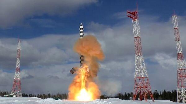 Лансирање ракете Сармат из космодрома Плесецк - Sputnik Србија
