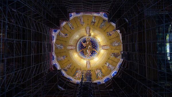 Mozaik u hramu Svetog Save u Beogradu - Sputnik Srbija