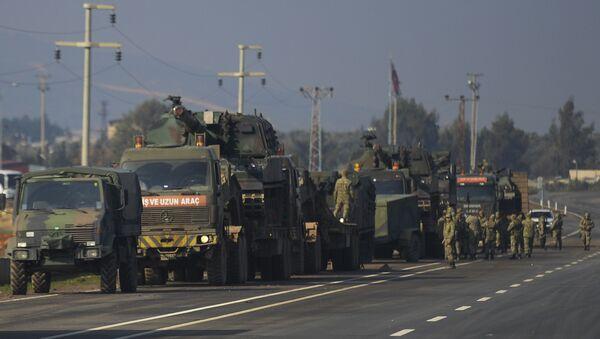 Konvoj turske vojske ulazi u Siriju - Sputnik Srbija