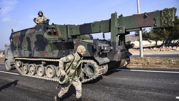 Turske trupe i artiljerija pripremaju se za operacije u Siriji - Sputnik Srbija