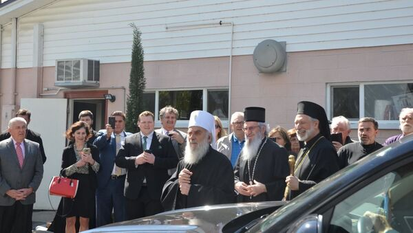 Patrijarh Irinej u Americi - Sputnik Srbija