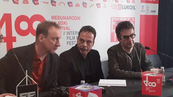 Канадски редитељ Атом Егојан и глумац Дејвид Тјулис на 48. Фесту - Sputnik Србија