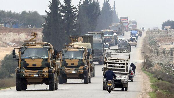 Турски војни конвој у источном делу сиријске провинције Идлиб - Sputnik Србија