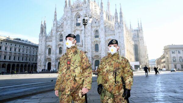 Полицајци у Милану, Италија - Sputnik Србија