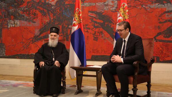 Patrijarh Irinej i Aleksandar Vučić - Sputnik Srbija