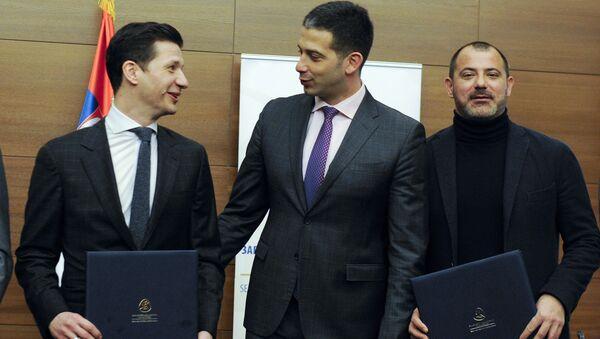 Marko Pantelić sa Vanjom Udovičićem i Dejanom Stankovićem - Sputnik Srbija
