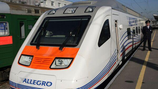 Представљање брзог воза Алегро који саобраћа на релацији Санкт Петербург-Хелсинки - Sputnik Србија