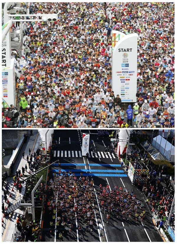 Токијски маратон 3. марта 2019 и 1. марта 2020. - Sputnik Србија