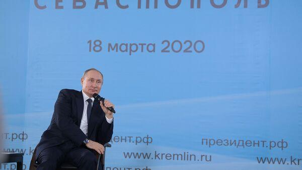 Putin u Sevastopolju - Sputnik Srbija