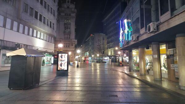 Полицијски час у центру Београда - Sputnik Србија