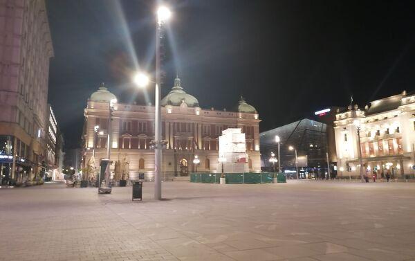 Policijski čas u centru Beograda - Sputnik Srbija