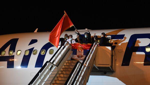 Највећи српски авион ербас А330 Никола Тесла долетео из Кине са хуманитарном помоћу. - Sputnik Србија